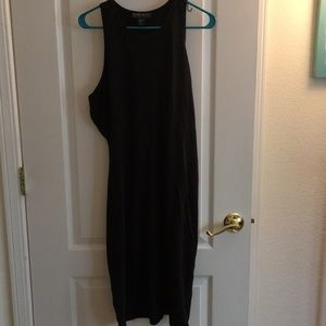 Forever 21 long black tank top bodycon dress